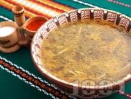Лесна супа от коприва с фиде и ориз